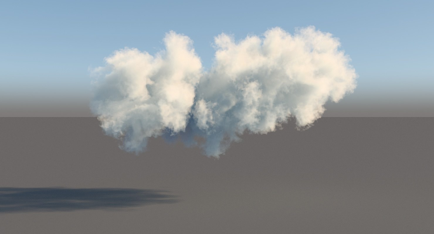 3d model volumetric cloud