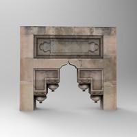 3d stone door arc 4 model