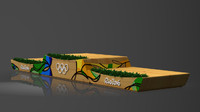 3d model of rio 2016 olympics victory