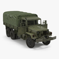US Military Cargo Truck m35a2 Rigged