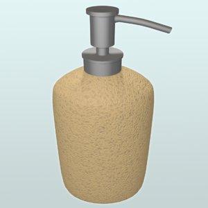 3d liquid soap dispenser
