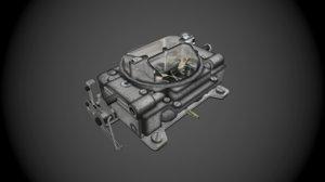 carburetor 3d obj