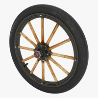 3d old wheel car