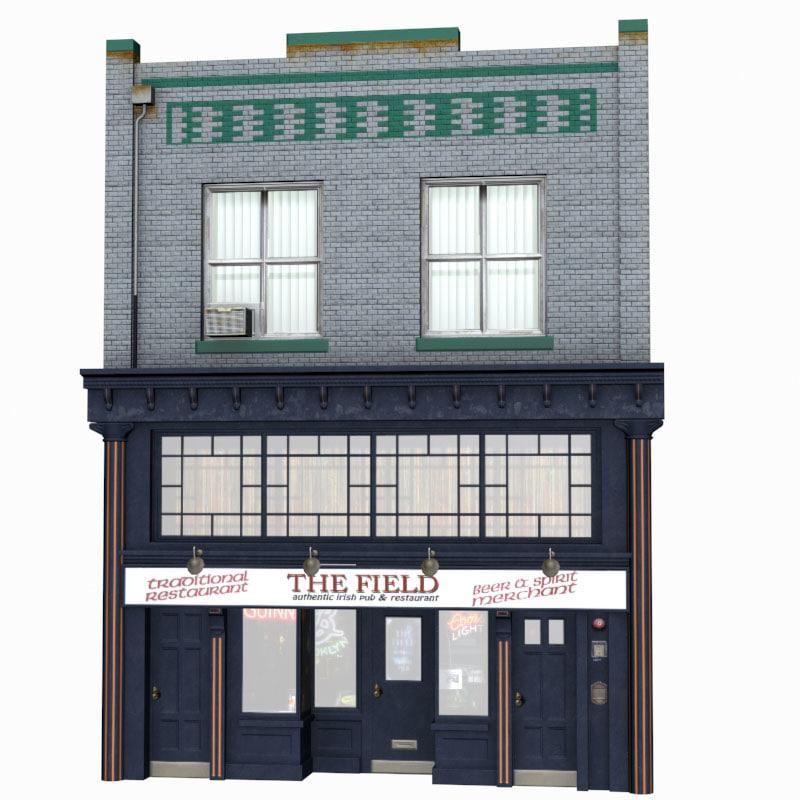 facade b 3d model