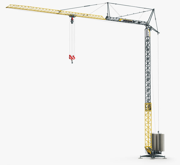 3d tower crane liebherr 53k model