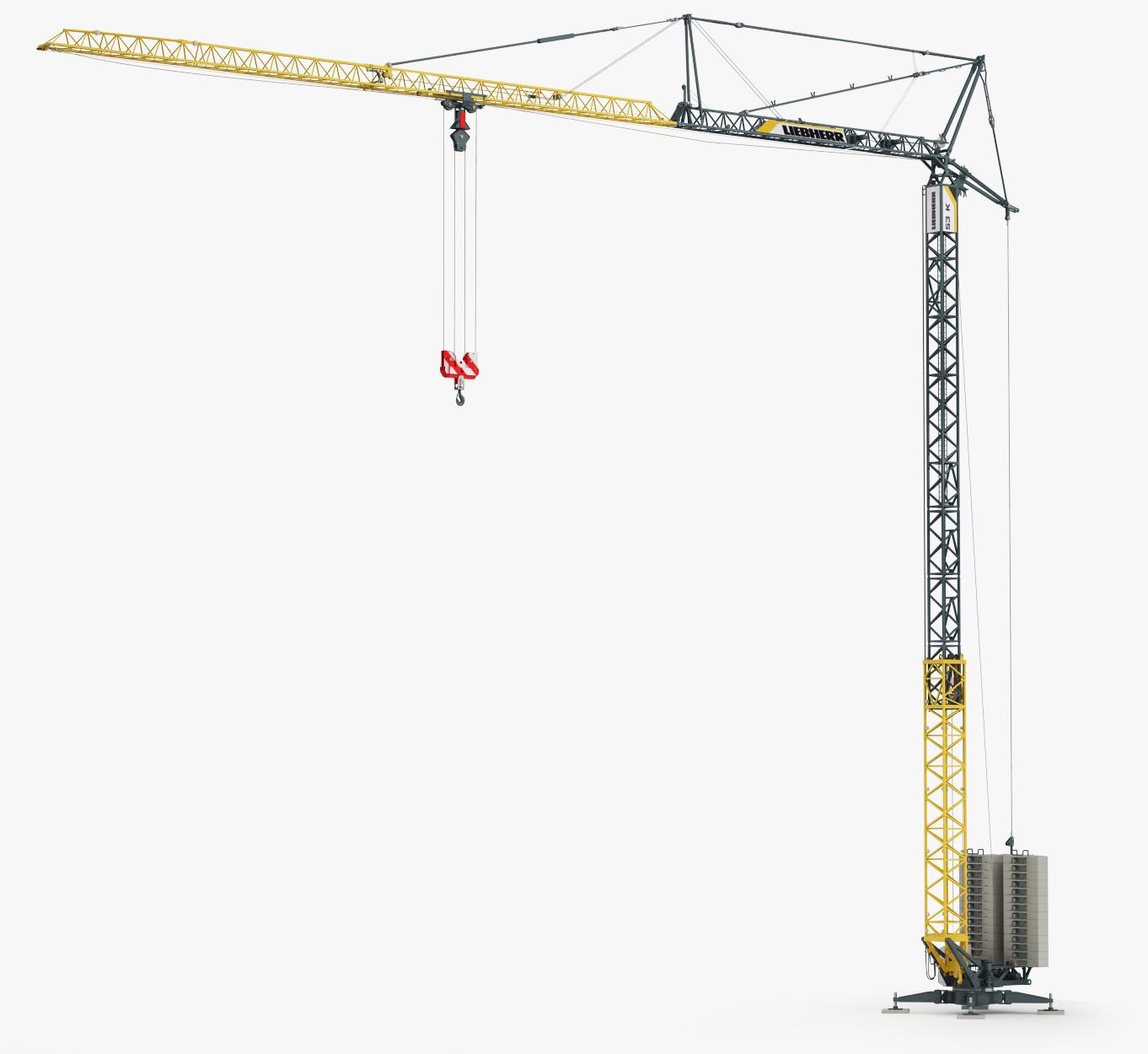 tower crane liebherr 53k 3ds