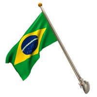 3d model wall brazilian flag 25