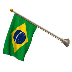 wall brazilian flag 70 3d c4d