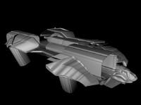 3d space spaceship