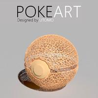 3d model pokeball art