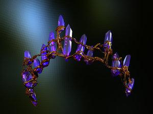 3d crystal crown tiara