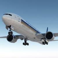 boeing 777 300er singapore 3d max