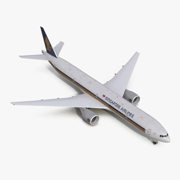 boeing 777-300er singapore airlines 3d model