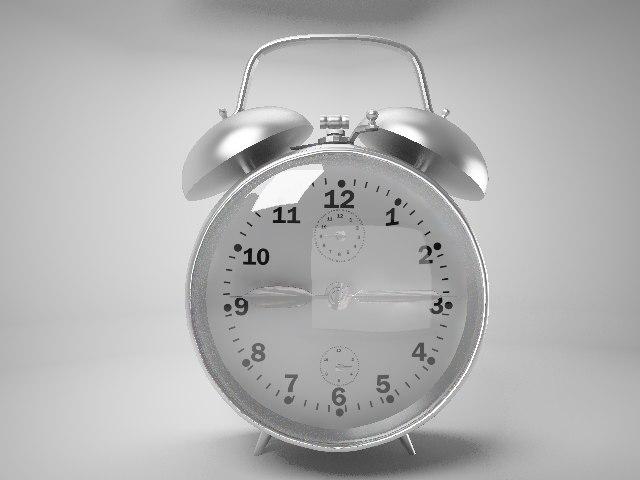 3d retro clock