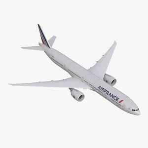 3d model of boeing 777-300er air france