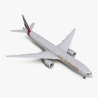 boeing 777-300er emirates airlines 3d model