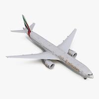 boeing 777-300er emirates airlines 3d model
