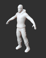 3d model of normal maps