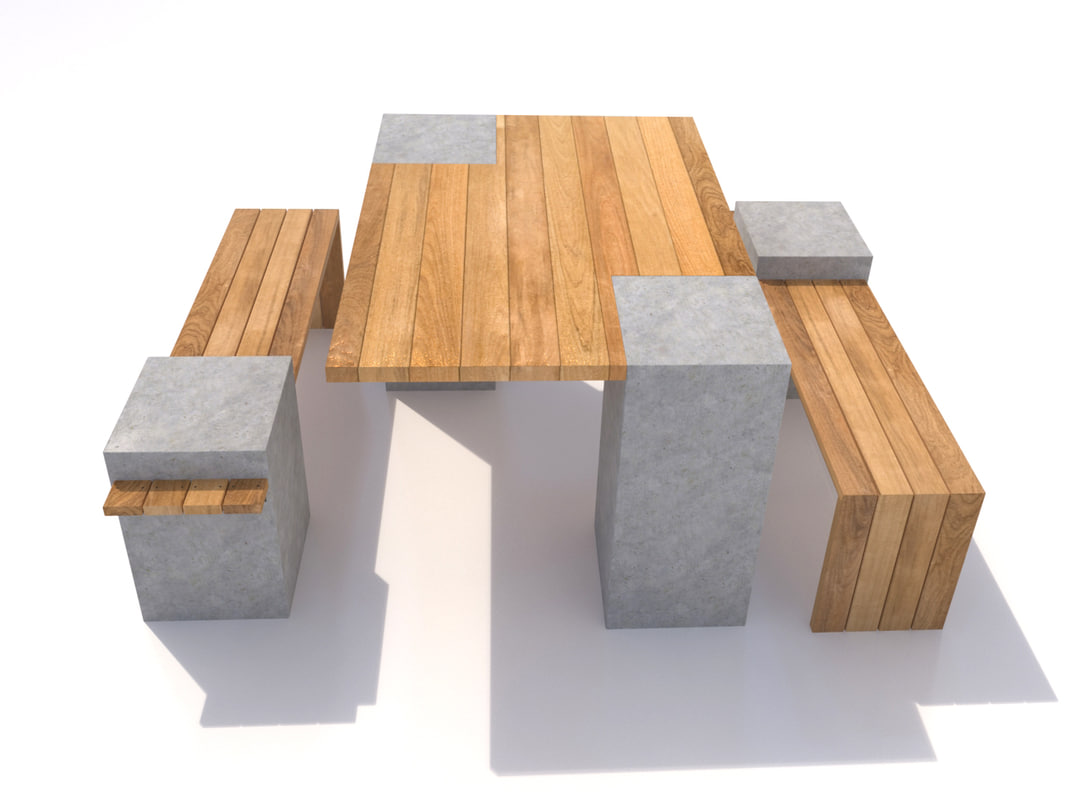 bench table-01 table 3d model