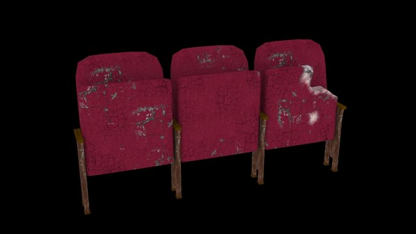 3d model old theatre seats