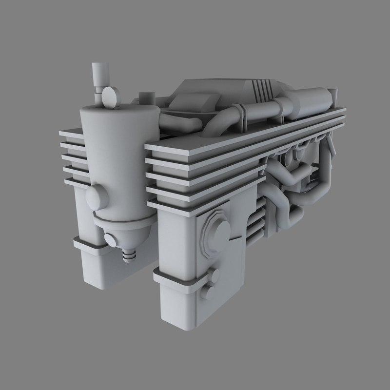 industrial engine obj