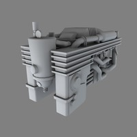 industrial engine obj