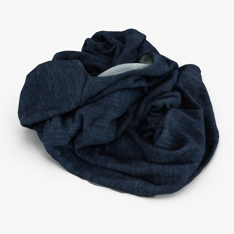 crumpled sweater 3d max