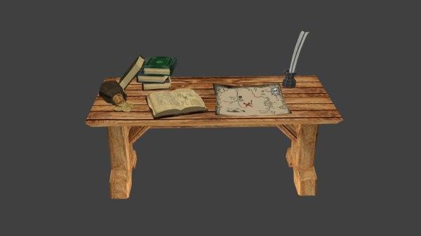 quest table 3d model