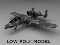 Low poly A-10 Thunderbolt