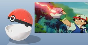 pokeball possible open 3d model
