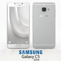 3d samsung galaxy c5 silver