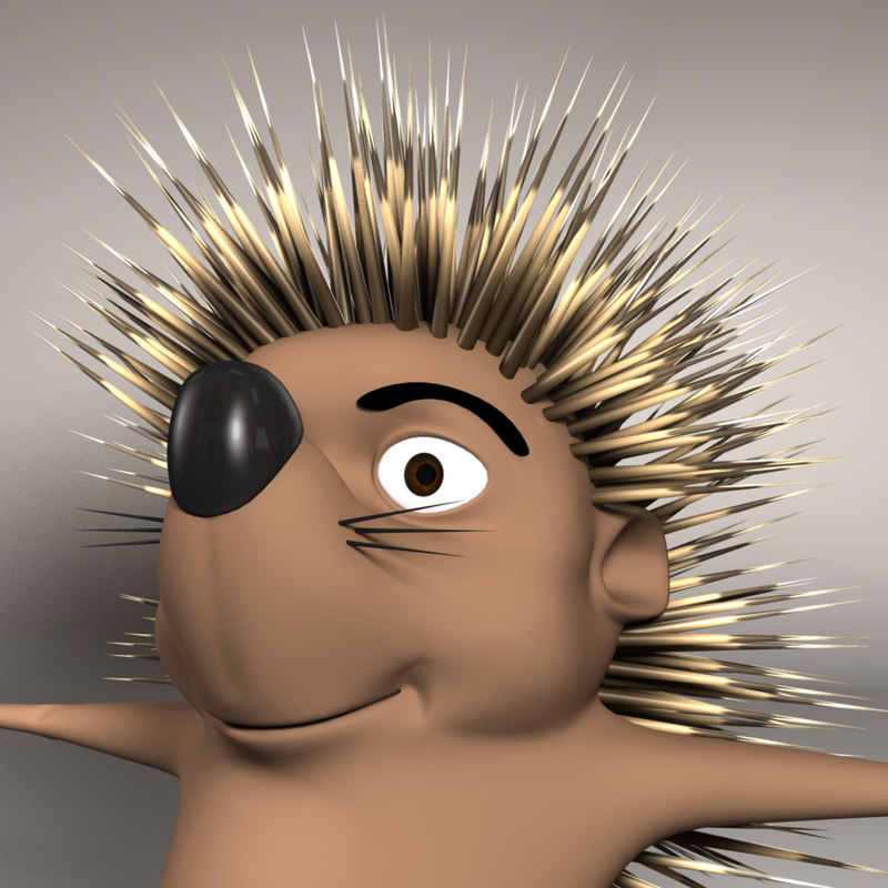 3d model hedgehog