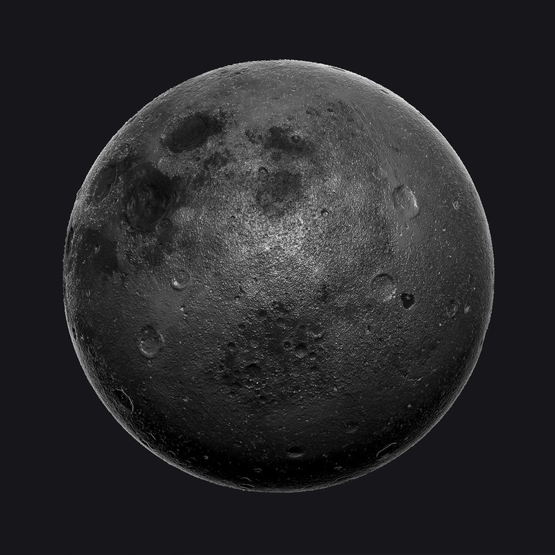 3d model moon zbrush