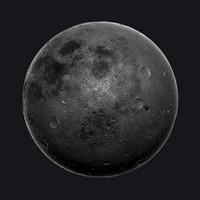 Moon Zbrush OBJ Hipoly Model