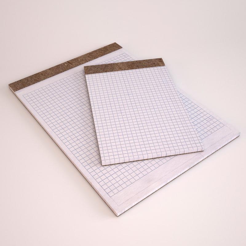 legal graph paper pads 3d max