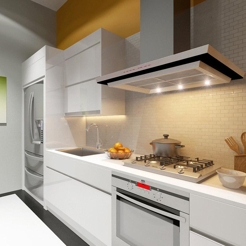 v-ray scene kitchen 3d max