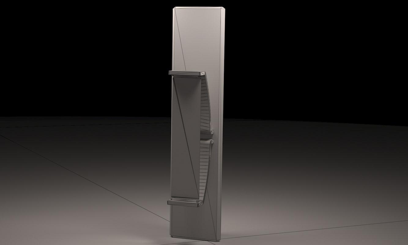 sci-fi column ax edition 3d model