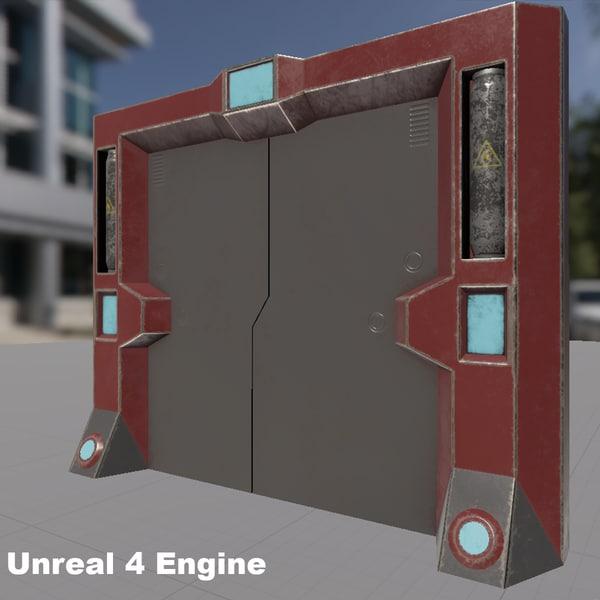 sci-fi gate 3d model