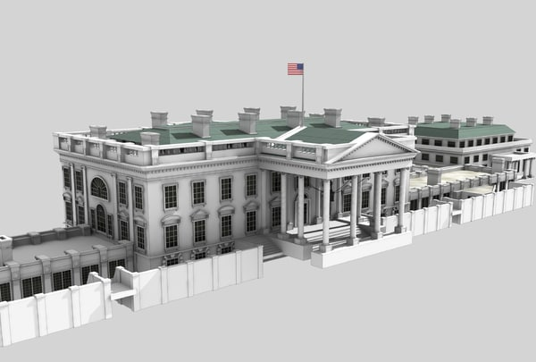 The White House 3d Models For Download Turbosquid
