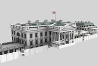 white house residence 3d model