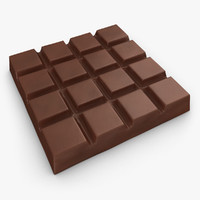 3d model realistic chocolate bar milk