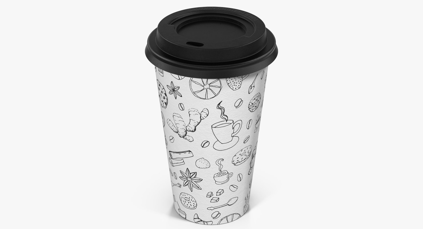 3d coffee cup takeout design model