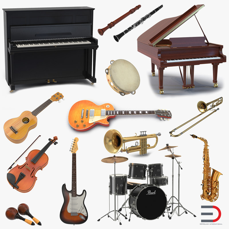 musical instruments 2 3d model