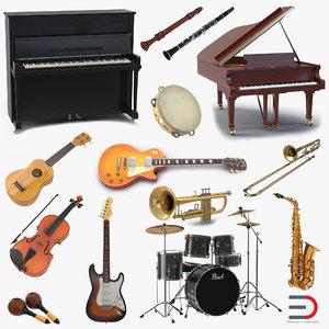 musical instruments 2 maracas 3d max