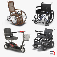 Wheelchairs 3D Models Collection