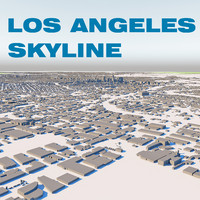 los angeles city 3d max