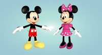 3d mickey minnie mouse