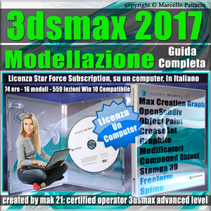 Corso 3ds max 2017 Modellazione Guida Completa Locked Subscription, un Computer
