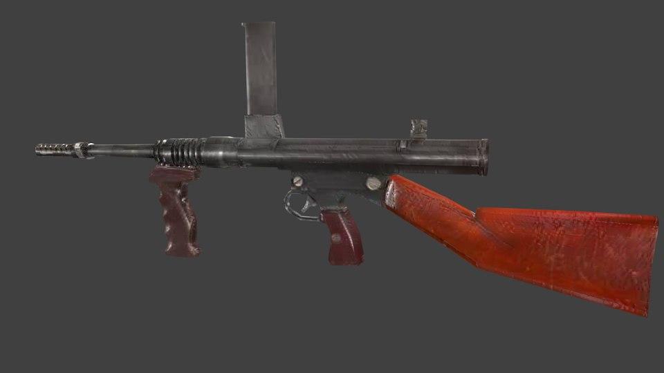 3d owen gun model