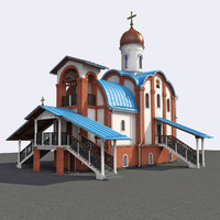 3d model of orthodox church